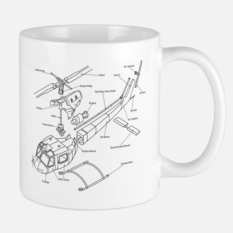 Helicopter Schematic Mug