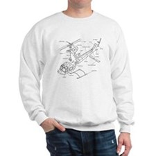 Helicopter Schematic Sweatshirt