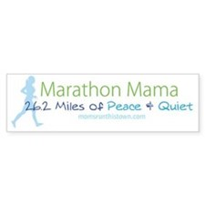 Marathon Mama - 26.2 Miles of Pea Bumper Sticker