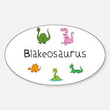 Blakeosaurus Oval Decal
