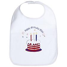 Happy Birthday USA Bib