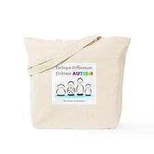 Autism Penguins (Autism Facts Info) Tote Bag