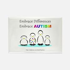 Autism Penguins Rectangle Magnet