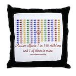 Autism Hands Throw Pillow