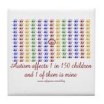 Autism Hands Tile Coaster