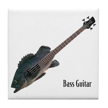 Bass Guitar Tile Coaster