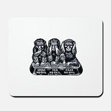 Three Monkeys Mousepad