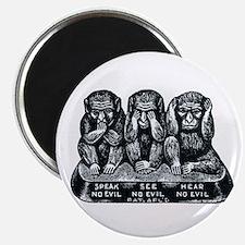 Three Monkeys Magnet
