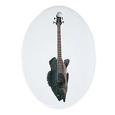 Bass Guitar Oval Ornament