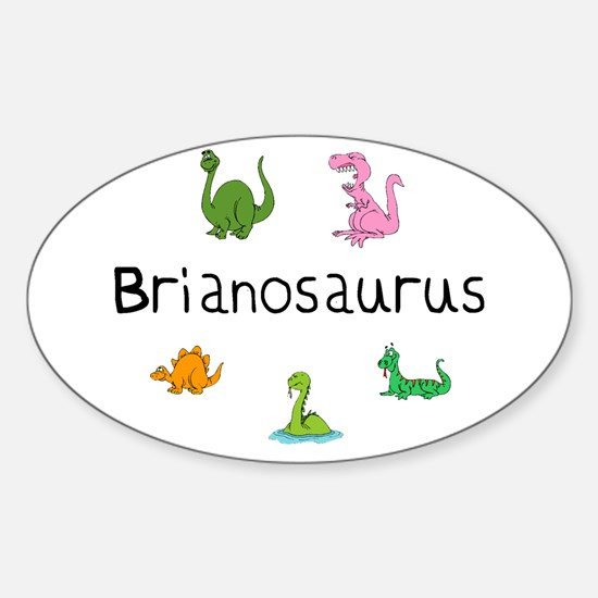 Brianosaurus Oval Decal