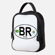 Brazil Intl Oval Neoprene Lunch Bag