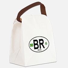 Brazil Intl Oval Canvas Lunch Bag