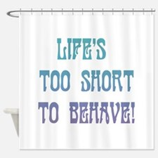 life is short shower curtains life is short fabric