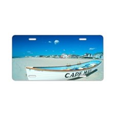 'Life boat on a beach in Ca Aluminum License Plate
