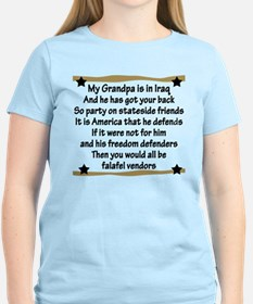 Grandpa has your back! Military T-Shirt