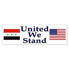 United We Stand - Iraq and US (sticker)