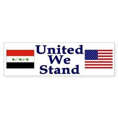 United We Stand - Iraq and US (sticker)