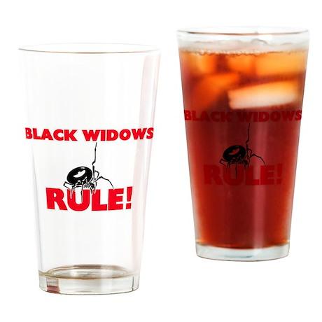 Black Widows Rule! Drinking Glass