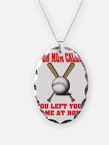 Funny Baseball Saying Necklace