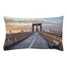 Brooklyn bridge, New York City. Pillow Case