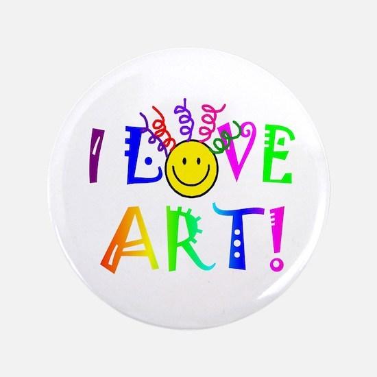 """Love Art 3.5"""" Button"""