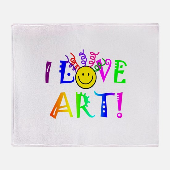 Love Art Throw Blanket