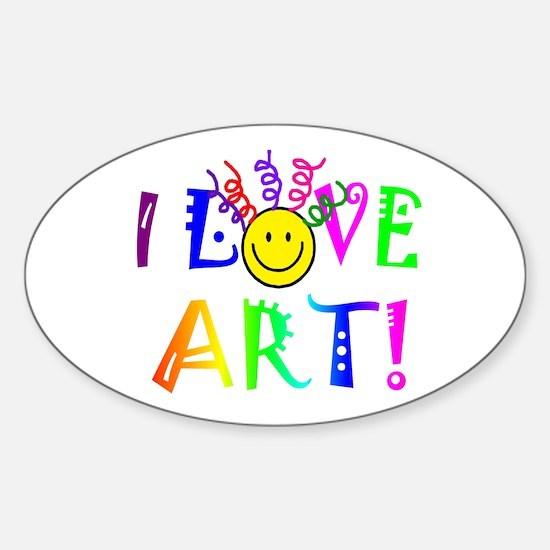 Love Art Sticker (Oval)