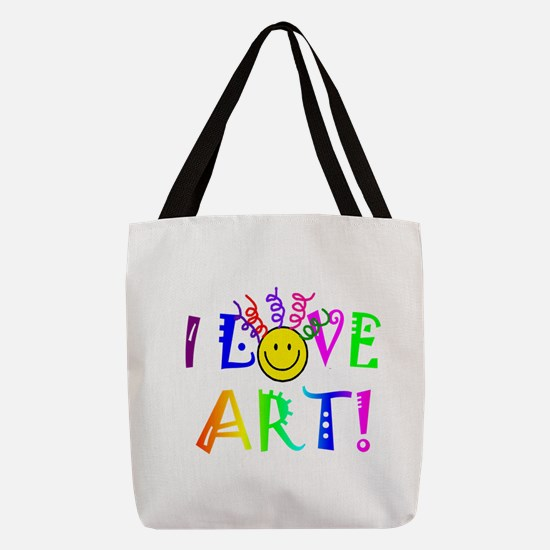 Love Art Polyester Tote Bag