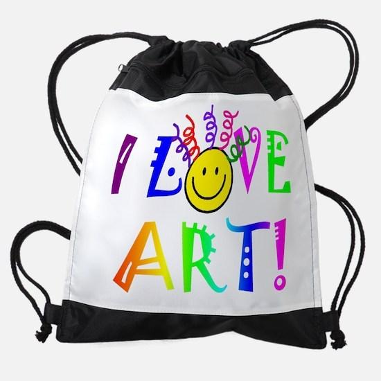 Love Art Drawstring Bag