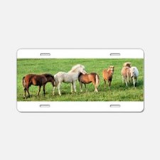 Foals in a Row Aluminum License Plate