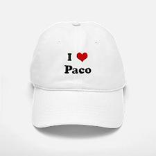 I Love Paco Baseball Baseball Cap