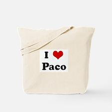 I Love Paco Tote Bag