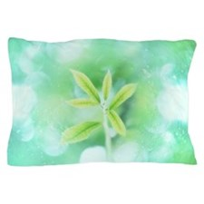 Leaves and water drops Pillow Case