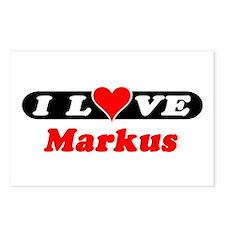 I Love Markus Postcards (Package of 8)