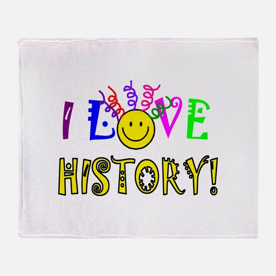Love History Throw Blanket
