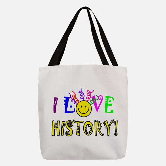 Love History Polyester Tote Bag