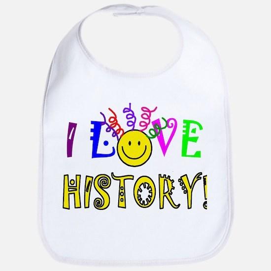 Love History Cotton Baby Bib