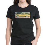 Yellow 1953 Studebaker on Women's Dark T-Shirt