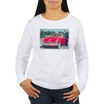 Red 1953 Studebaker on Women's Long Sleeve T-Shirt