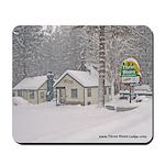 Three Pines Lodge Winter Snow Mousepad