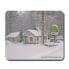 Three Pines Lodge Winter Snow Mousepad