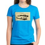 Two '53 Studebakers on Women's Dark T-Shirt