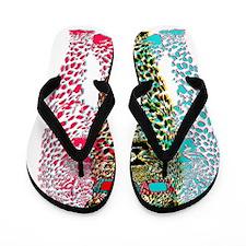 3D Leopard Flip Flops