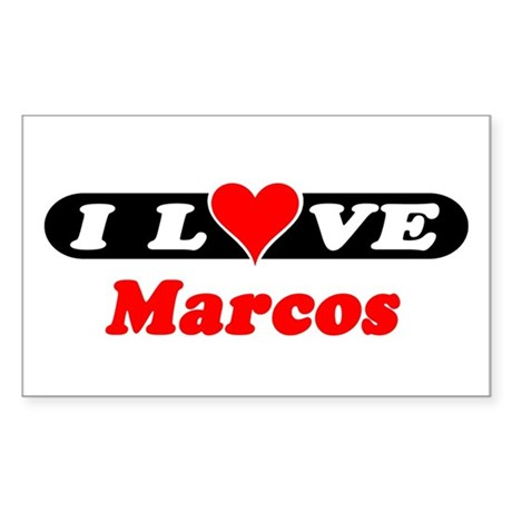I Love Marcos Rectangle Sticker