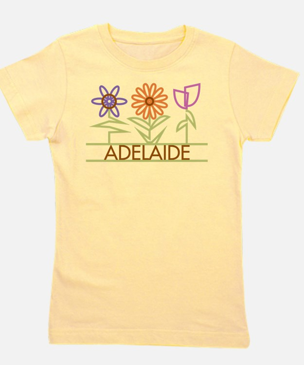 Adelaide with cute flowers T-Shirt