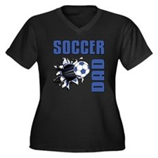 Soccer Dad Women's Plus Size Dark V-Neck T-Shirt