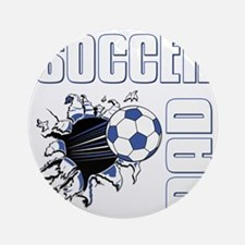 Soccer Dad Round Ornament