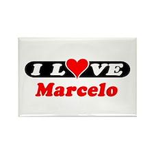 I Love Marcelo Rectangle Magnet