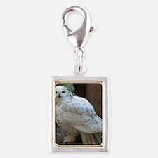 Snowy Owl Full Silver Portrait Charm