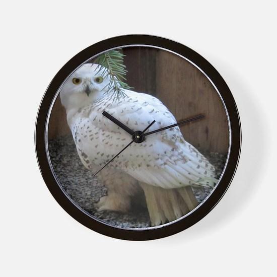 Snowy Owl Full Wall Clock